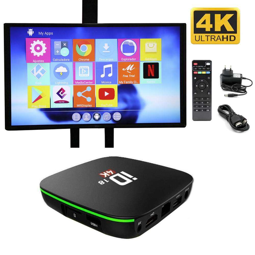 Tv Box Convierte Tu Tv En Smart Android 9.0 Ram 2Gb Rom 16Gb 4K