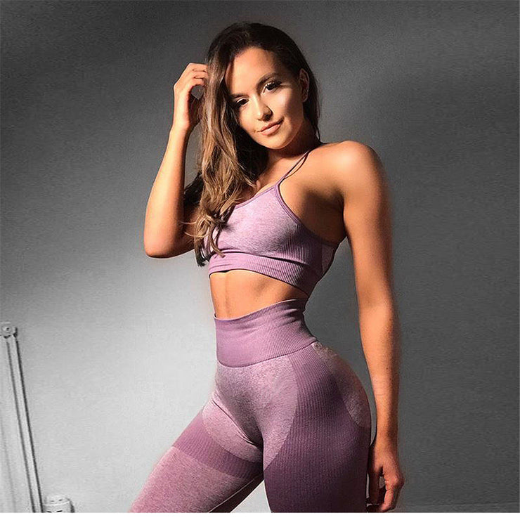 Purple Patchwork Legging