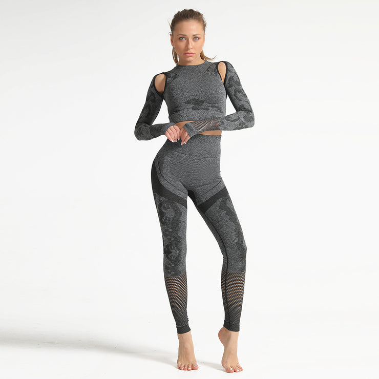 Dark Gray Yoga Set