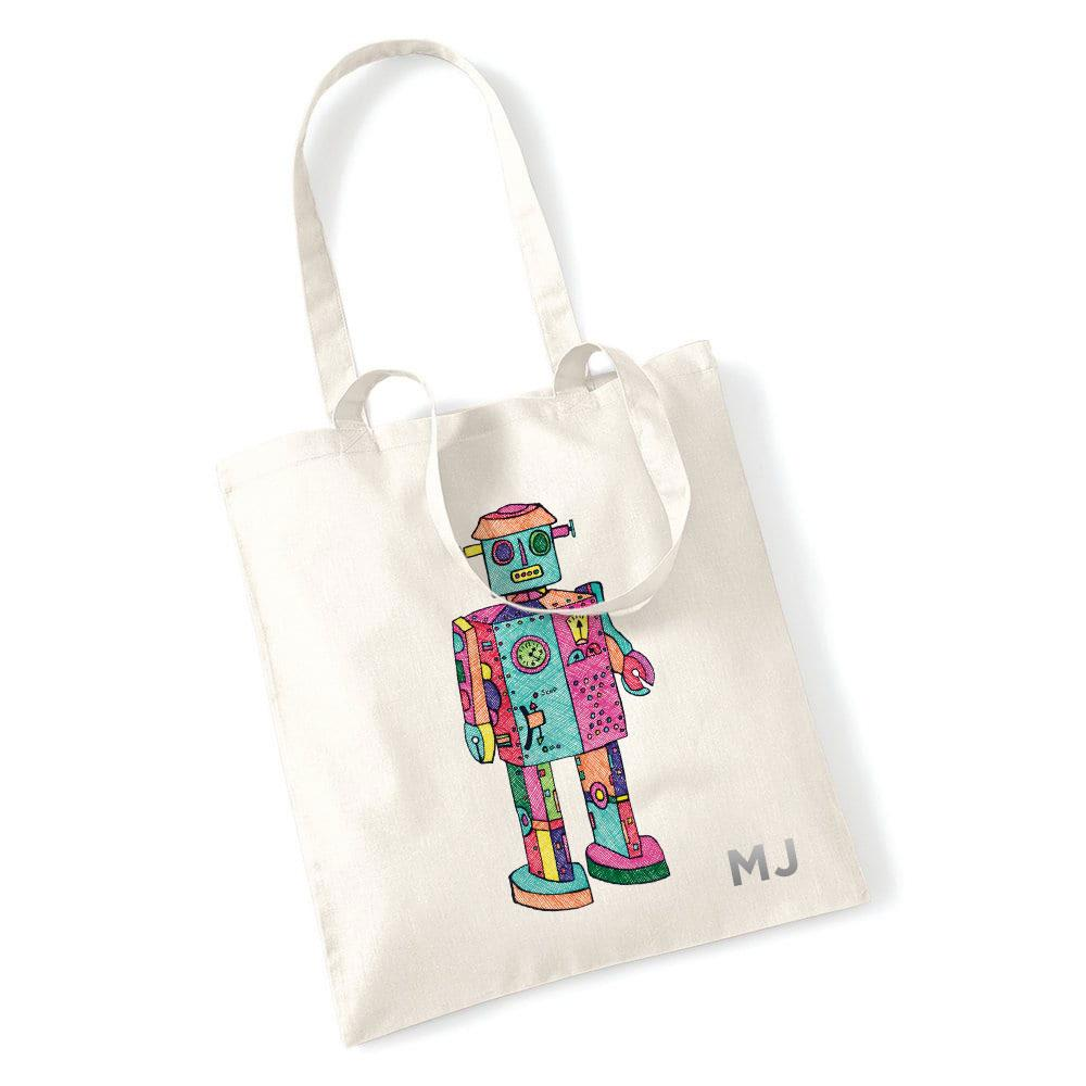 Atomic Robot Man Natural Tote Bag T-Shirts Hot Merch
