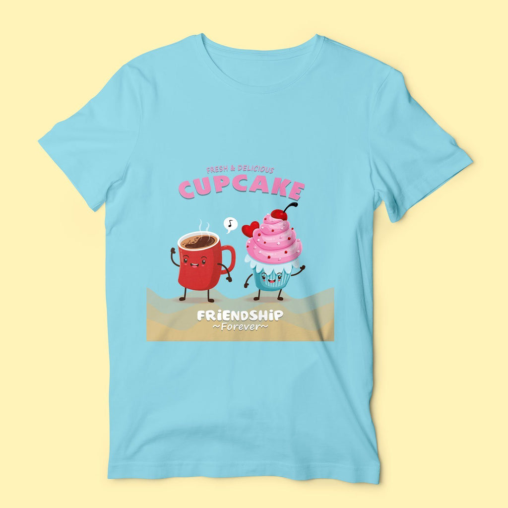 Cupcake Friends - Blue T-Shirt T-Shirts Hot Merch