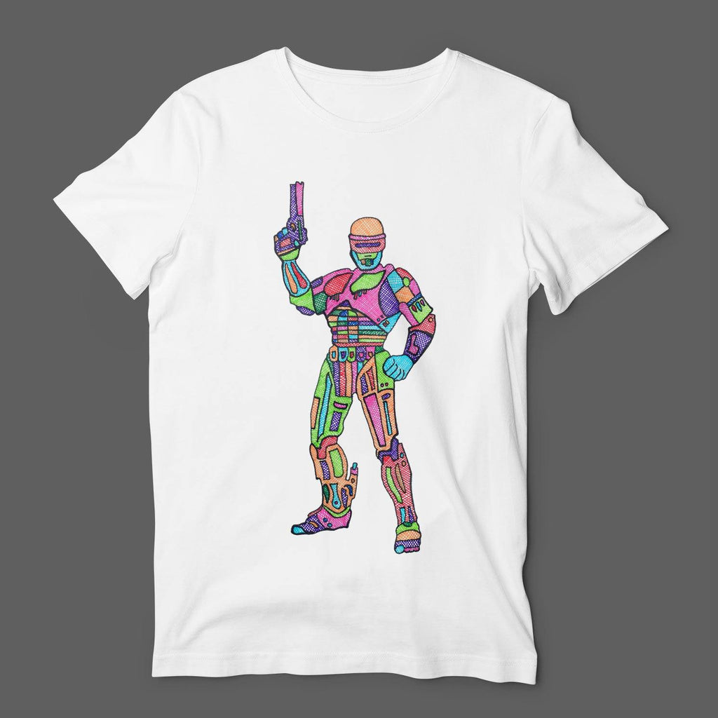 Dead Or Alive You're Coming With Tee Robocop T-Shirt T-Shirts Hot Merch Small White
