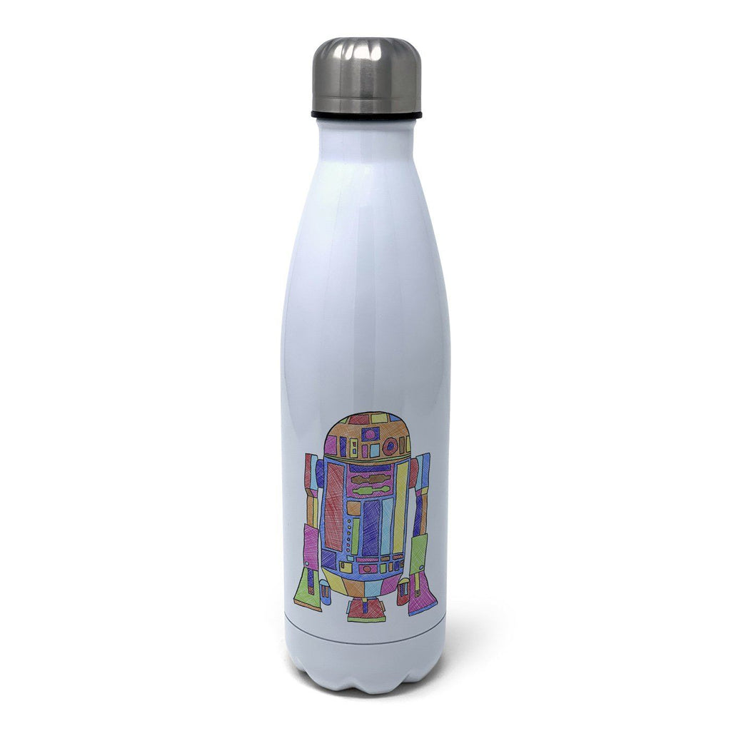 Feisty - R2D2 Insulated Water Bottle Insulated Water Bottles Hot Merch