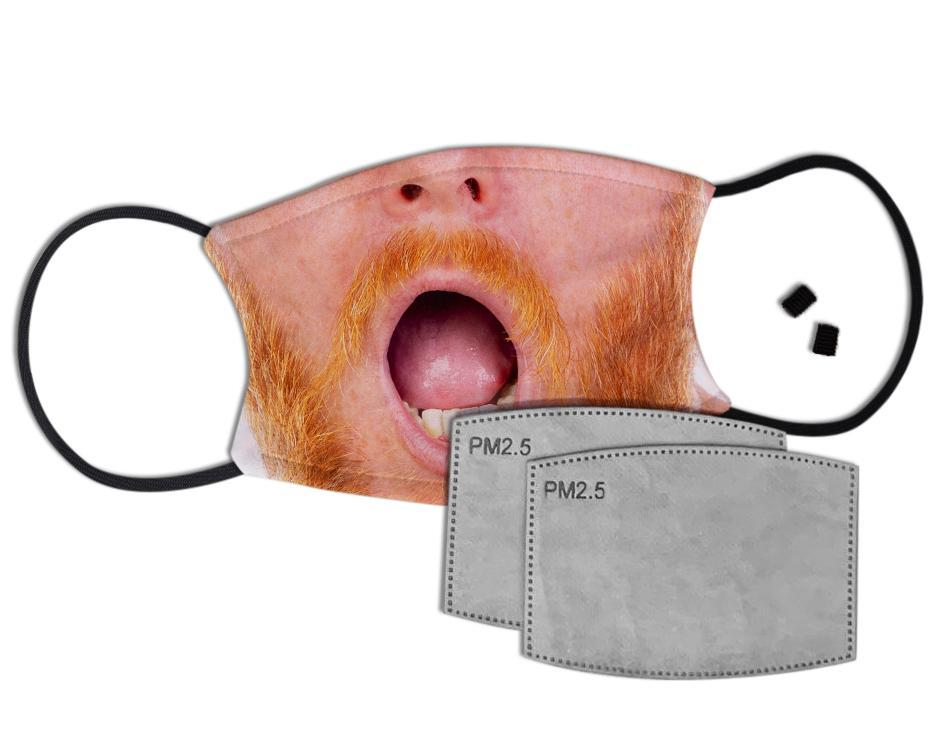 Ginger Beardy Custom Face Mask with Filter Face Masks Hot Merch