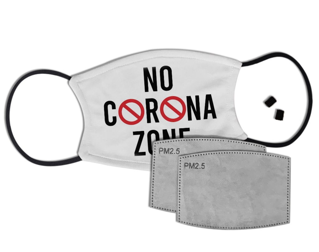 No Corona Zone Custom Face Mask with Filter Face Masks Hot Merch