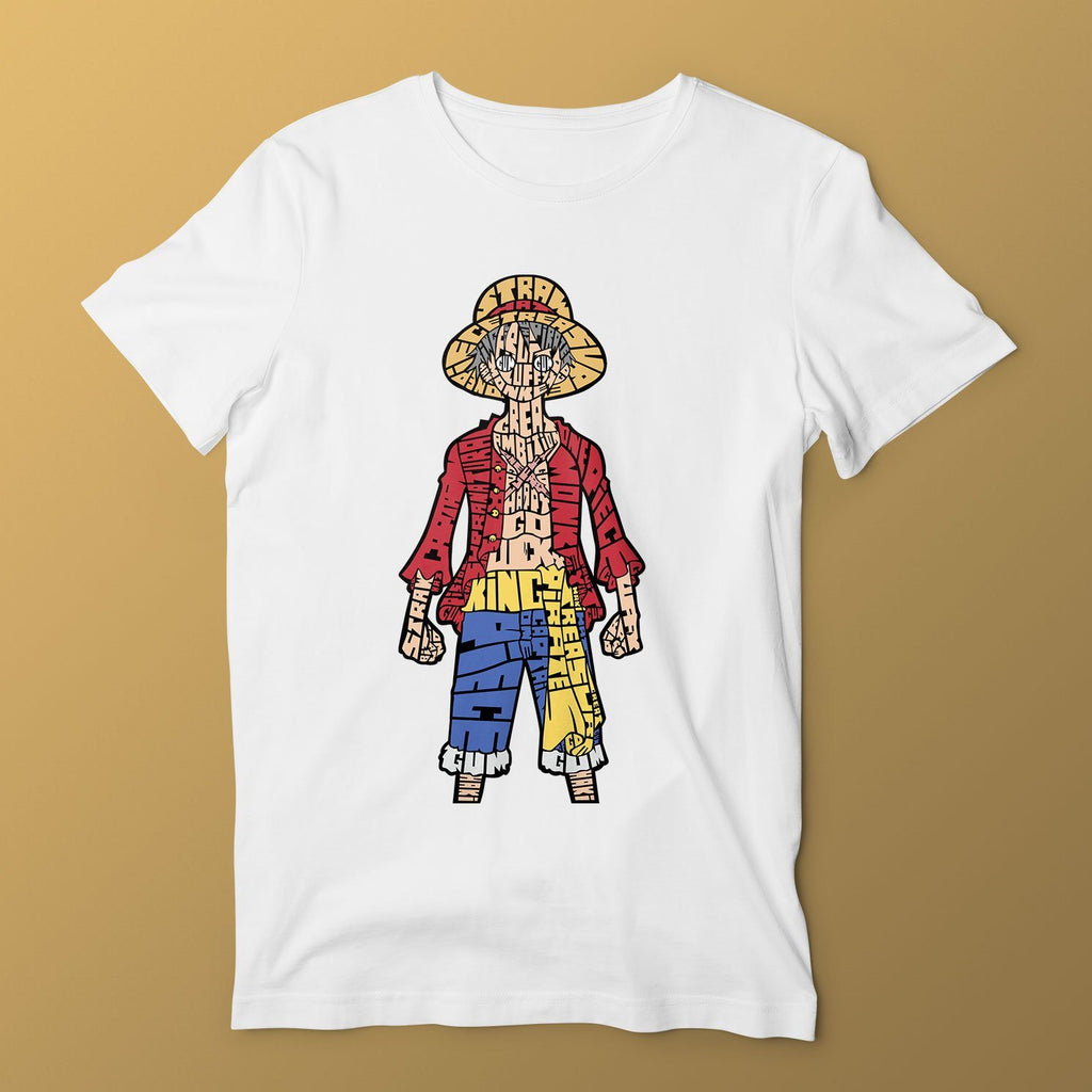 One Piece T-Shirt T-Shirts Hot Merch Small White