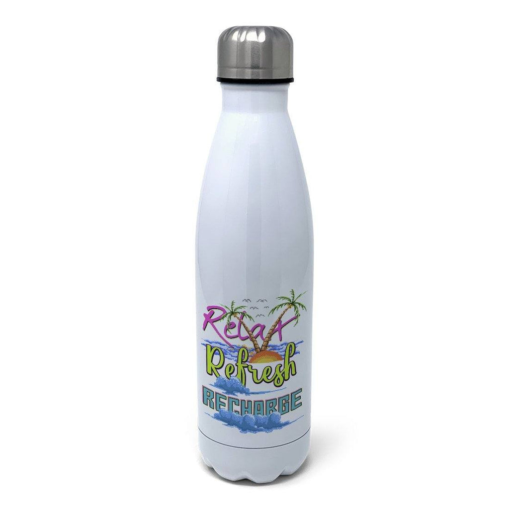 Relax, Refresh, Recharge Insulated Water Bottle Insulated Water Bottles Hot Merch