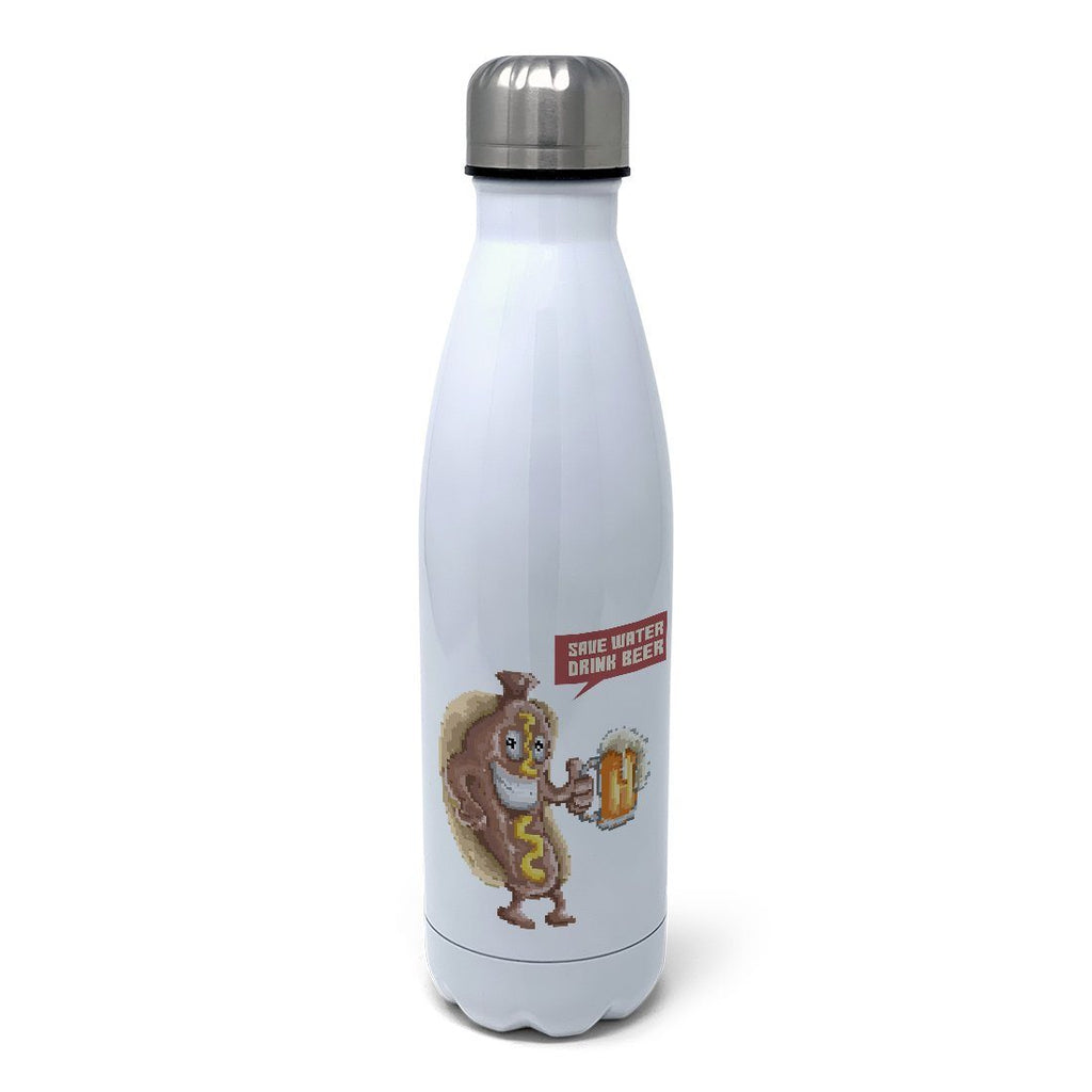 Save Water Drink Beer Insulated Water Bottle