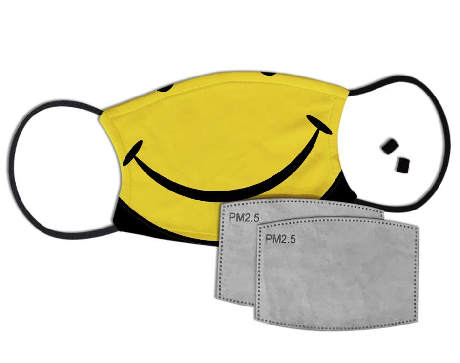 Smile Face Custom Face Mask with Filter Face Masks Hot Merch