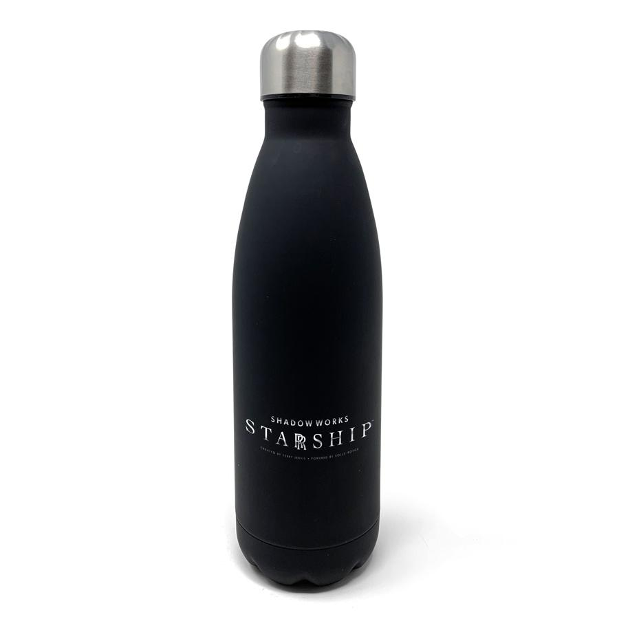 STARRSHIP - Silver Status Personalised Matt Bottle Insulated Water Bottles HotMerchUK