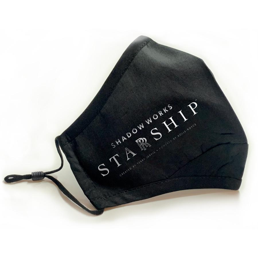 STARRSHIP Fitted Silver Face Mask Face Masks Hot Merch