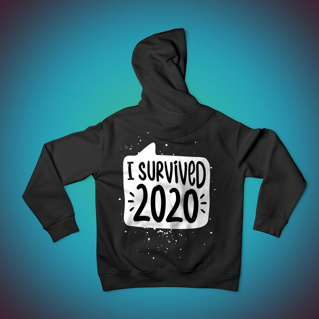 I Survived 2020 - Personalised Hoodie Hoodies Hot Merch Small Black Hoodie