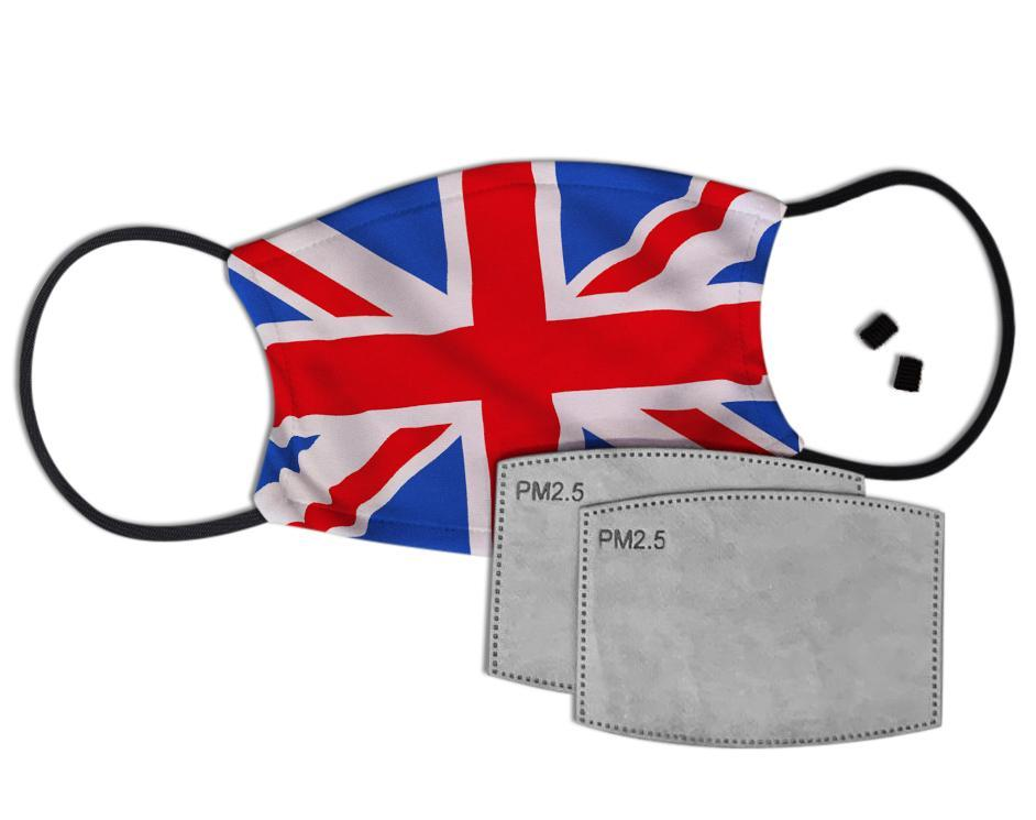 Union Flag Custom Face Mask with Filter Face Masks Hot Merch