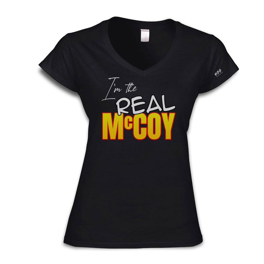 The Real McCoy V-Neck T-Shirt T-Shirts Hot Merch Small