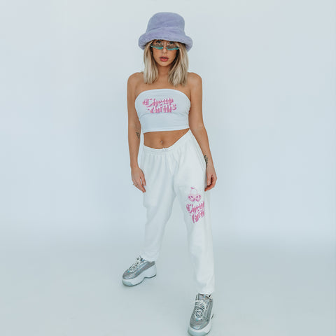 Los Angeles After Dark Clothing Brand. Cheap Thrills Sweatpants + tube top set. This shirt and all other clothing items were made and designed in Los Angeles.