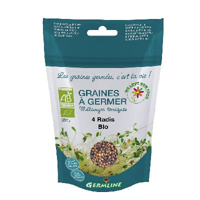 GRAINE A GERMER MIX 4 RADIS 100G