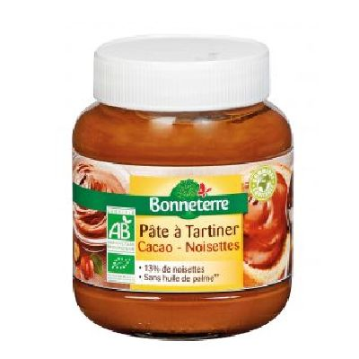 PATE A TARTINER CACAO S/HUILE PALME 350G