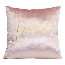 Load image into Gallery viewer, Pink Gold Love Cushion - Vida Style