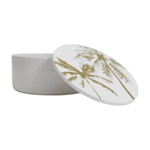 Gold Palm Trinket Box - Medium - Vida Style