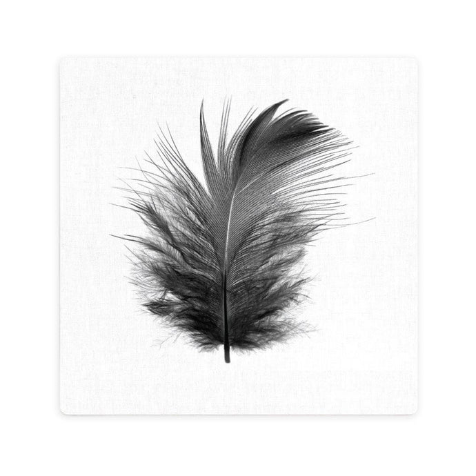 Black Feather Ceramic Coaster - Vida Style