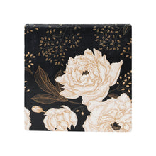 Load image into Gallery viewer, Dark Floral Ceramic Coaster - Vida Style