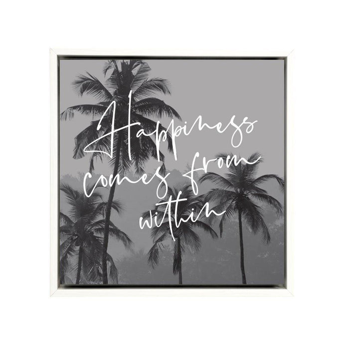 Happiness Framed Canvas - 34x34 - Vida Style