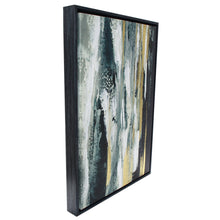 Load image into Gallery viewer, Black Gold Waterfall Framed Canvas - 44x64 - Vida Style