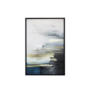 Black Gold Horizon Framed Canvas - 44x64 - Vida Style