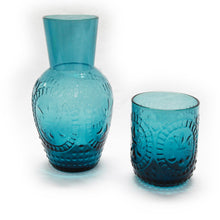 Load image into Gallery viewer, Blue Carafe and Glass Set