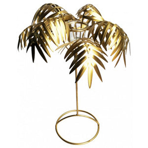 Luxe Gold Palm Tealight Holder - Vida Style