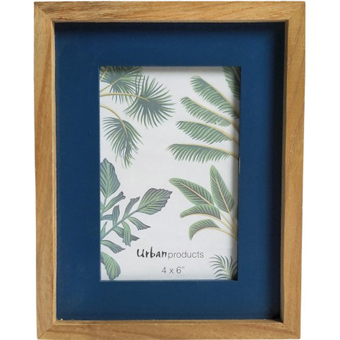 Navy Wooden Picture Frame - 4x6