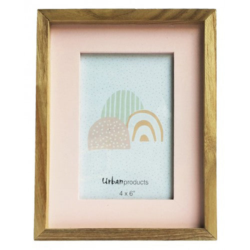 Pink Wooden Picture Frame - 4x6 - Vida Style