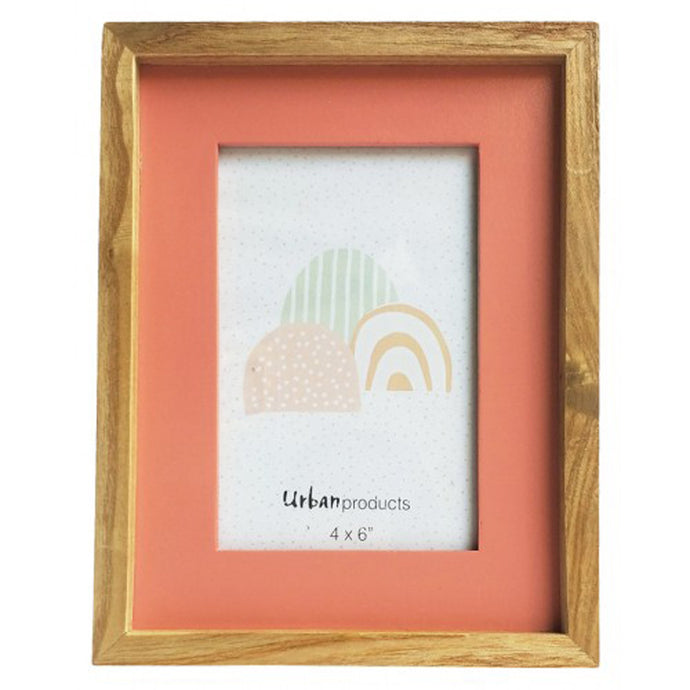 Coral Wooden Picture Frame - 4x6 - Vida Style