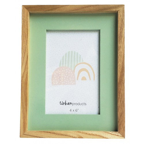 Sage Wooden Picture Frame - 4x6 - Vida Style