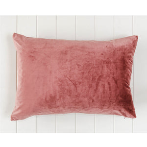 Luxe Dusty Rose Velvet Rectangle Cushion