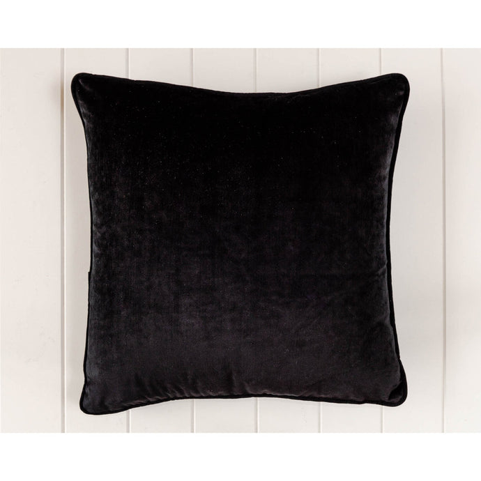 Luxe Black Velvet Square Cushion - Vida Style