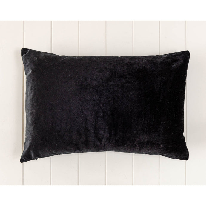 Luxe Black Velvet Rectangle Cushion - Vida Style