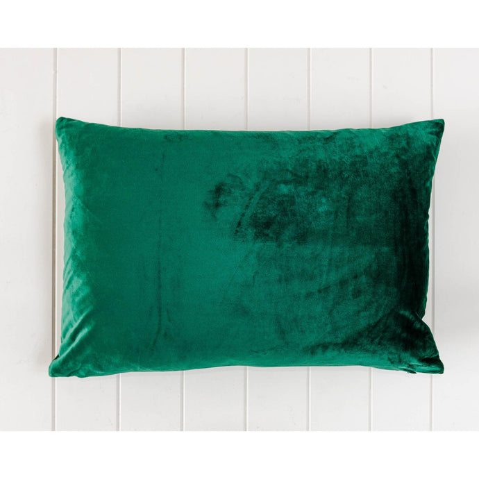 Luxe Emerald Velvet Rectangle Cushion - Vida Style