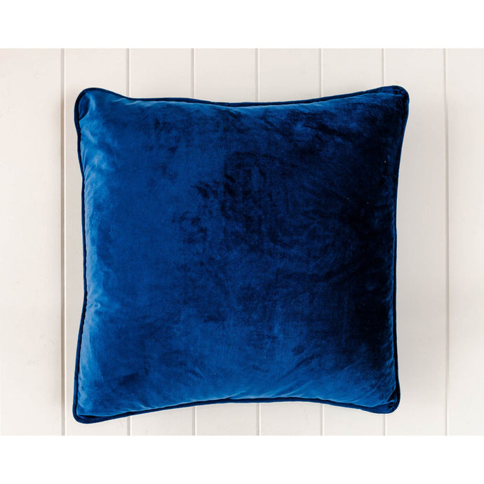 Luxe Navy Velvet Square Cushion - Vida Style