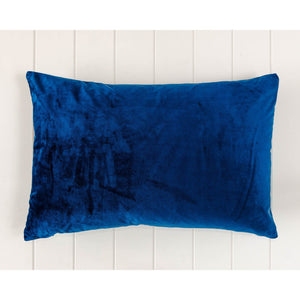 Luxe Navy Velvet Rectangle Cushion - Vida Style