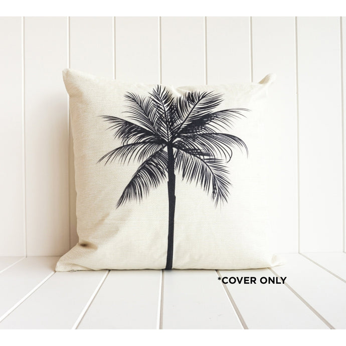 Black Palm Cushion Cover - Vida Style