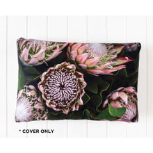 Load image into Gallery viewer, Midnight Sea of Proteas Cushion Cover - Vida Style