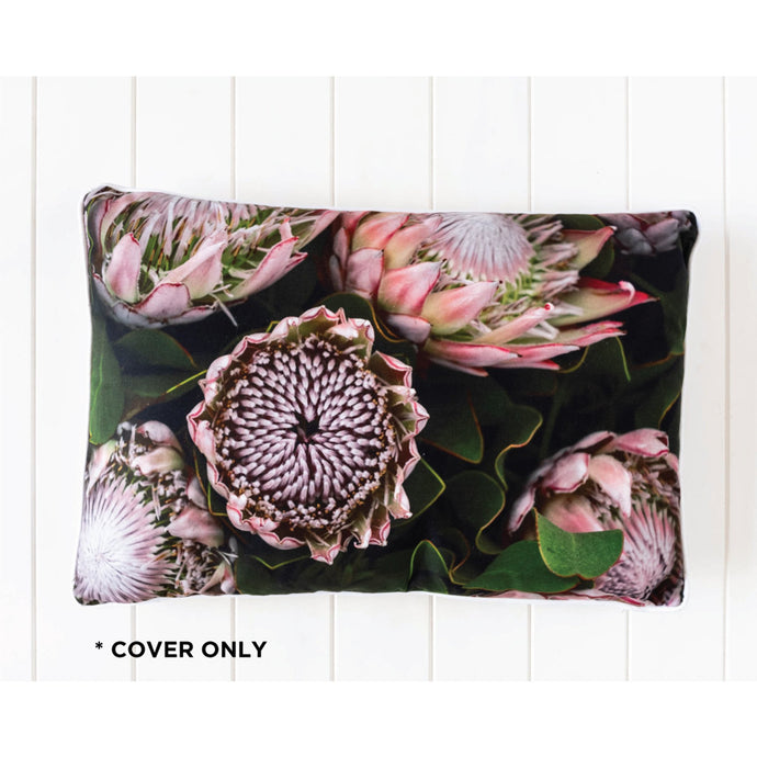 Midnight Sea of Proteas Cushion Cover - Vida Style