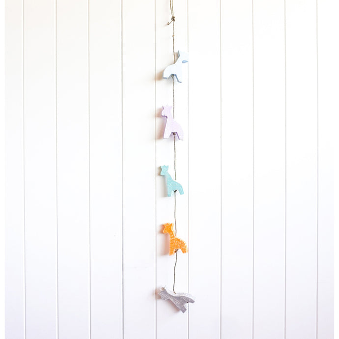 Coloured Wooden Giraffe Strand
