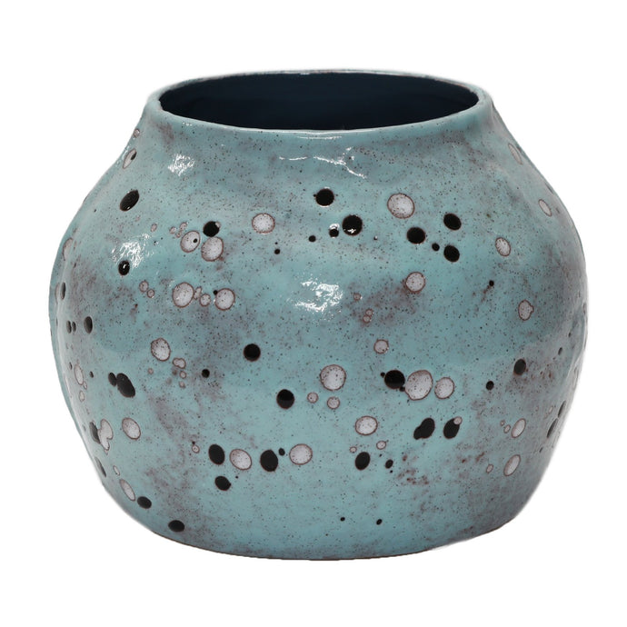 Luxe Blue Speckly Pot - Vida Style