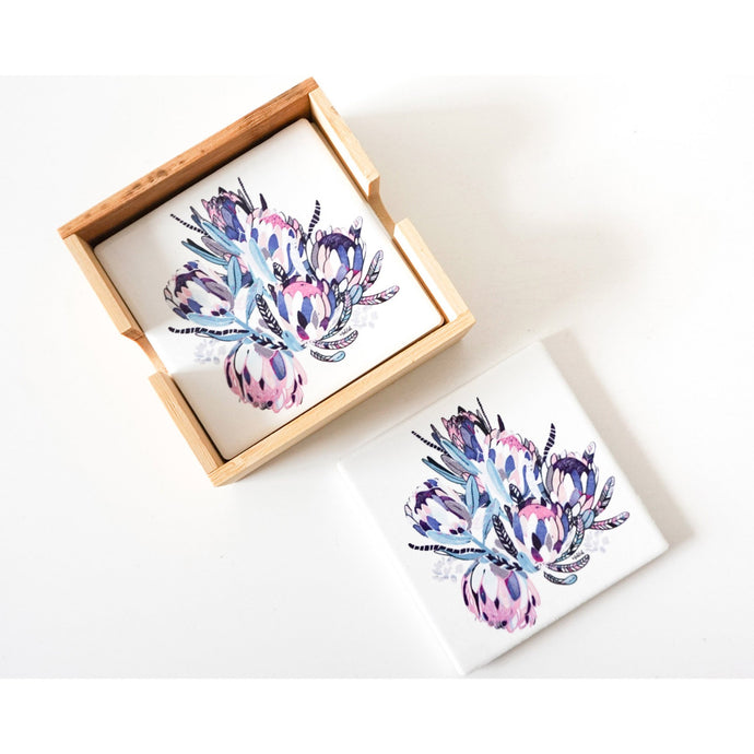 Colour Bunch Ceramic Coaster - Set of 4 - Vida Style