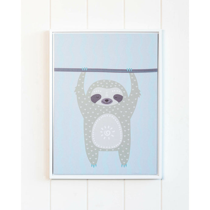 Hanging Sloth Framed Art - 30x40 - Vida Style