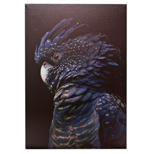 Load image into Gallery viewer, Midnight Black Cockatoo Canvas Wall Art - 40x60 - Vida Style