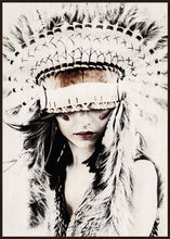 Load image into Gallery viewer, Premium - Indian Headdress Aria - 62x92