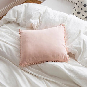 Pink Mini Pompom Cushion - Vida Style